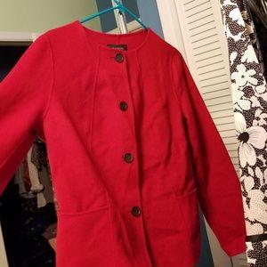 Talbots red jacket size 8